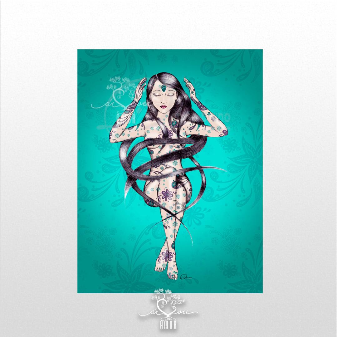 Poster temático - Intuição - árvore do amor - sem moldura